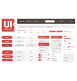 UI kit web template vector image vector image