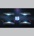 vs versus futuristic design battle headline vector image vector image