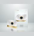 white vip card presentation with golden vector image vector image