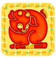 year sheep chinese horoscope animal sign vector image vector image