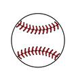 Baseball ball sign isolated vector image