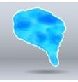 Watercolor Speech blue Bubble vector image