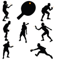 table tennis players vector image