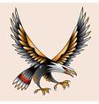 tattoo eagle vector image