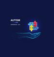 autism awareness day puzzle autism awareness vector image