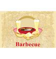 barbecue Party - vintage Invitation vector image vector image