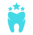 beautiful tooth logo icon flat style vector image vector image