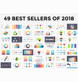 best infographic templates of 2018 presentation vector image vector image