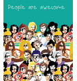 big group people sky and sign vector image vector image