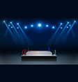boxing ring arena vs letters for sports and fight vector image vector image