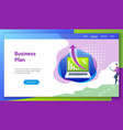 business plan flat design concept2 vector image vector image