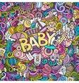 Cartoon hand drawn Doodle Baby vector image vector image