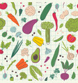 cartoon vegetables hand draw seamless pattern vector image vector image