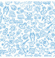 children with toys seamless pattern vector image vector image