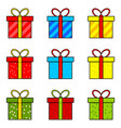 christmas present simple icon for christmas vector image vector image