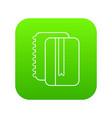 copy book icon green vector image vector image