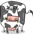 cow farm animal cartoon vector image vector image