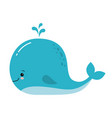 cute amusing blue whale prints image vector image vector image