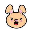 cute bunny kawaii cartoon vector image