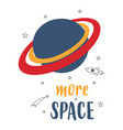 cute cartoon poster with space elements vector image
