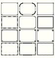 decorative simple frames set 14 vector image vector image