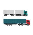 Delivery shipping cargo trucks and semi-trucks vector image