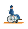disabled skiing isolated wheelchair ski running vector image