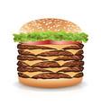 fast food realistic burger big burger icon vector image vector image