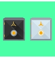 Flat of safes vector image