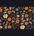 flowers and plants seamless background vivid old vector image