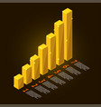 gold chart vector image vector image