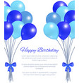 happy birthday greeting card balloons big bundle vector image vector image