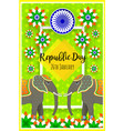 happy republic day indian festival poster vector image vector image