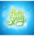 Happy sparkling Hello Spring card design vector image vector image