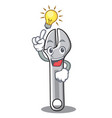 have an idea wrench character cartoon style vector image