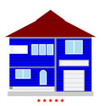 house icon color fill style vector image