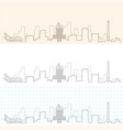 houston hand drawn skyline vector image vector image