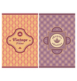 Invitation vintage retro cards vector image vector image