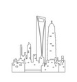 isolated shanghai cityscape vector image vector image