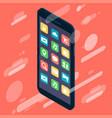 isometric design smartphone device icon vector image