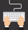 keyboard design vector image