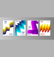 liquid abstract backgrounds color covers set vector image vector image