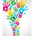 Multicolor diversity hands splash vector image vector image