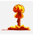 Mushroom cloud sign vector image vector image