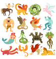 mythical creatures set vector image vector image