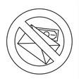 no money bribery icon outline style vector image