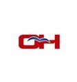 O and H logo vector image vector image