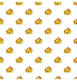 One storey house pattern cartoon style vector image vector image