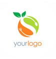 organic fuit letter s logo vector image vector image