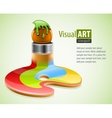 paint brush as symbol of vector image vector image
